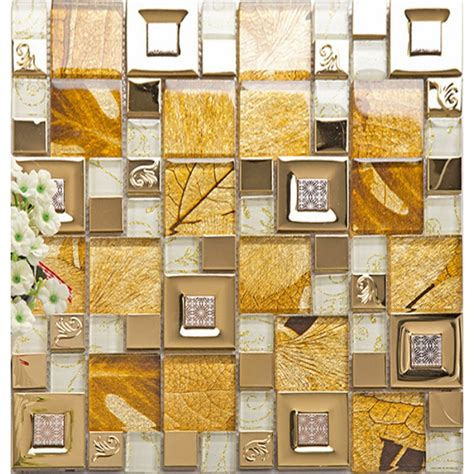 yellow kitchen wall tiles gold 304 stainless steel tile metal tiles yellow 1695
