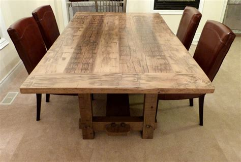 reclaimed wood dining room table  leaves inspiration