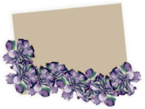 beautiful floral border powerpoint background