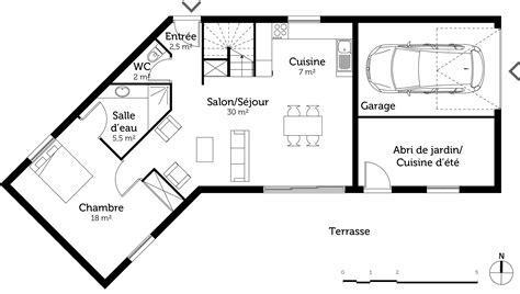 Plan Maison En V Avec Etage Plan Maison 224 233 Tage Avec Piscine Ooreka