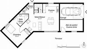 plan maison a etage avec piscine ooreka With superior maison en forme de u 1 plan maison traditionnelle avec patio ooreka