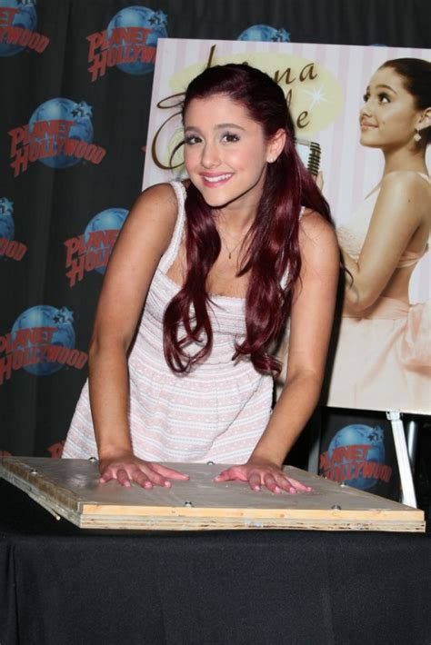 Ariana Grande Promotes Put Your Hearts Up With A Handprint Ceremony At Planet Hollywood 04