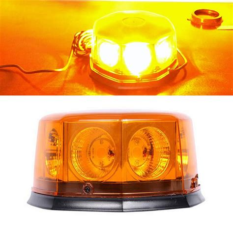 Hazard Lights by Cob 8 Led 12 Flashing Mode Car Auto Beacon Lights