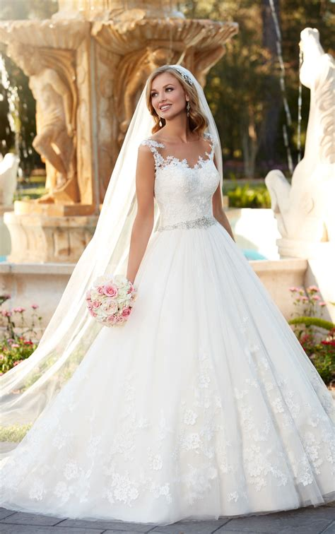Lace And Tulle Ball Gown Wedding Dress Stella York