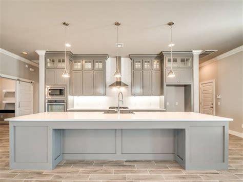 love open modern kitchen clean lines  grey tones