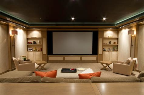 canapé home cinéma media room contemporary home theater dc metro by