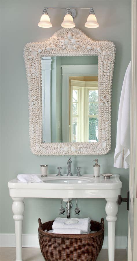 Coastal Bathroom Mirrors by Coastal Powder Room Kristin Peake Interiors