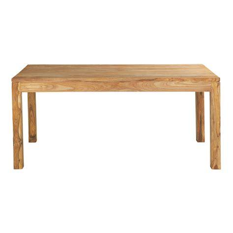 table de salle a manger bois massif table de salle 224 manger en bois de sheesham massif l 180 cm stockholm maisons du monde