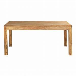 Table En Bois Salle A Manger : table de salle manger en bois de sheesham massif l 180 cm stockholm maisons du monde ~ Teatrodelosmanantiales.com Idées de Décoration