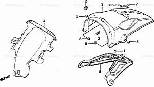 Honda Motorcycle 1980 Oem Parts Diagram For Rear Fender