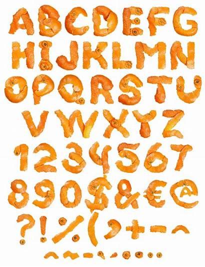 Orange Font Fruit Typography Alphabet Fonts Take