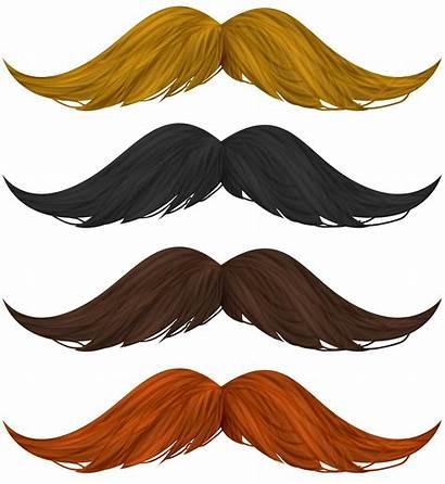 Clipart Mustache Transparent Yellow Clip Background Orange