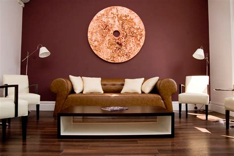 Cozy Living Room With Smart Paint Color Matches Maroon