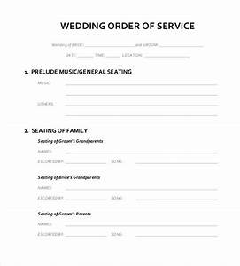 16 wedding order of service templates free sample for Wedding processional order template