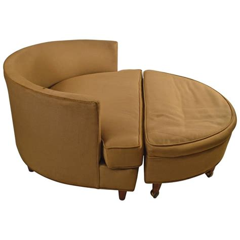 large circular chair and ottoman after pearsall for sale