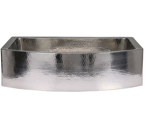 hammered rounded  stainless steel sink coppersmith