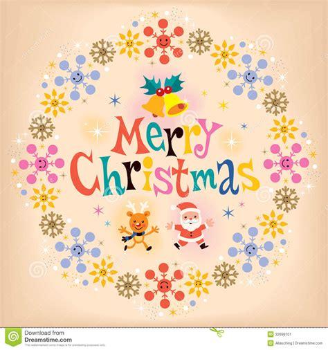 merry christmas vintage retro card stock image image 32699101
