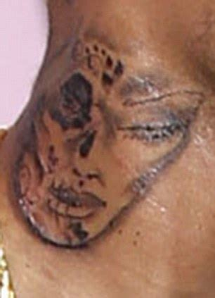 chris brown claims neck tattoo  inspired  day