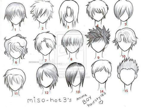 anime hair boy template anime love pinterest boys