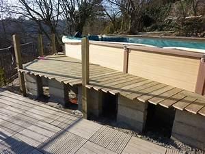 amenagement autour piscine hors sol 1 terrasse bois With amenagement autour piscine bois