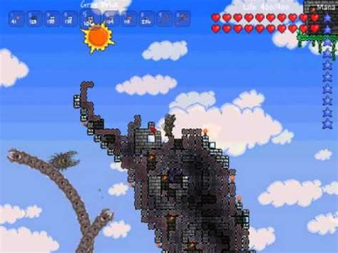 terraria pixel art  eater  worlds boss  youtube