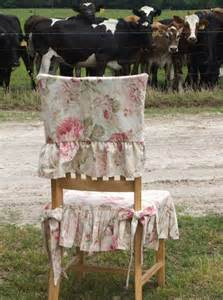 shabby chic chair slipcover