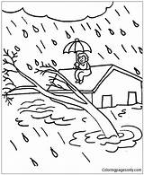 Coloring Natural Naturales Boyama Kizilay Dibujos Colorear Sayfalari Desastres Disaster Disasters Sheets Fenomenos Haftasi Science Inundacion Drawings Tornado Volcano Drawing sketch template