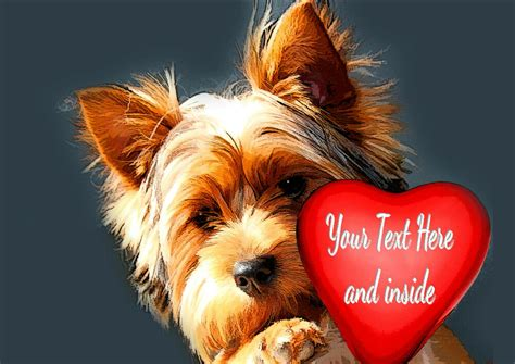 Check spelling or type a new query. PERSONALISED YORKSHIRE TERRIER YORKIE DOG HEART VALENTINE ANY OCCASION CARD | eBay