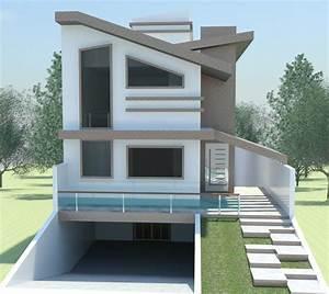 Estudo Com Laje Inclinada Casas Modernas Por Rafael Alves