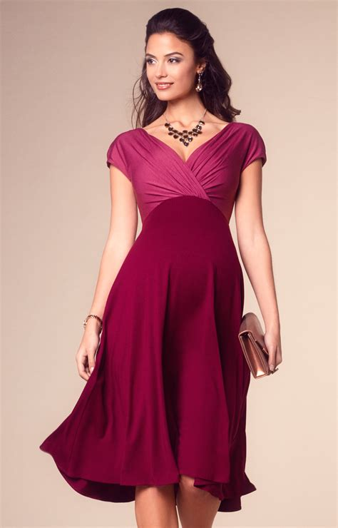 Alessandra Maternity Dress Short Rosey Red Maternity