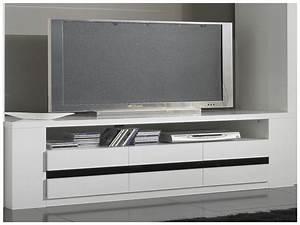 Meuble D Angle Moderne : beau meuble tv angle noir laqu meuble tv design ~ Teatrodelosmanantiales.com Idées de Décoration