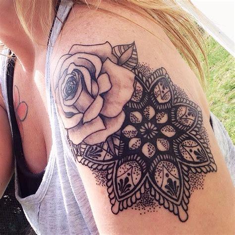 rosemandala tattoo obsessed mandala rose dotwork