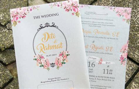 contoh undangan pernikahan  bisa jadi referensimu