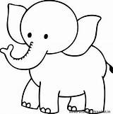 Coloring Elephant Printable Pages sketch template