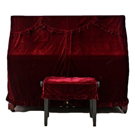 red velvet piano cover