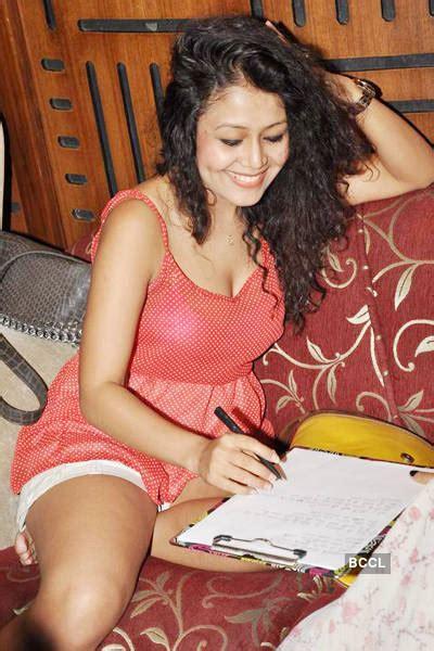 Neha Kakkar During A Song Recording At Andheri In Mumbai