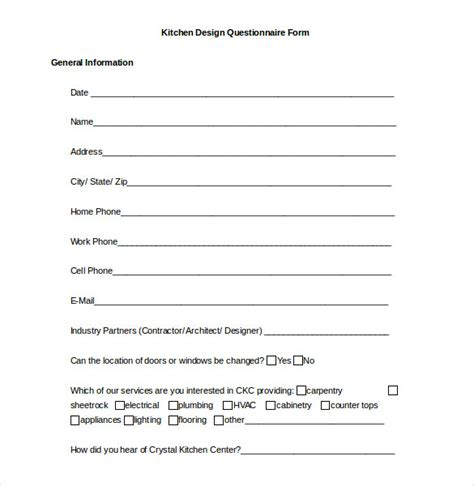 questionnaire template word 37 word survey templates free free premium templates