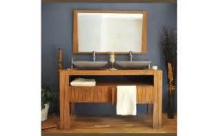 meuble de salle de bain en teck 140 borneo