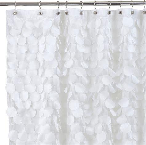 gigi fabric shower curtain white contemporary shower