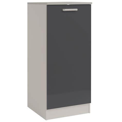 demi armoire de cuisine 60cm quot shiny quot gris