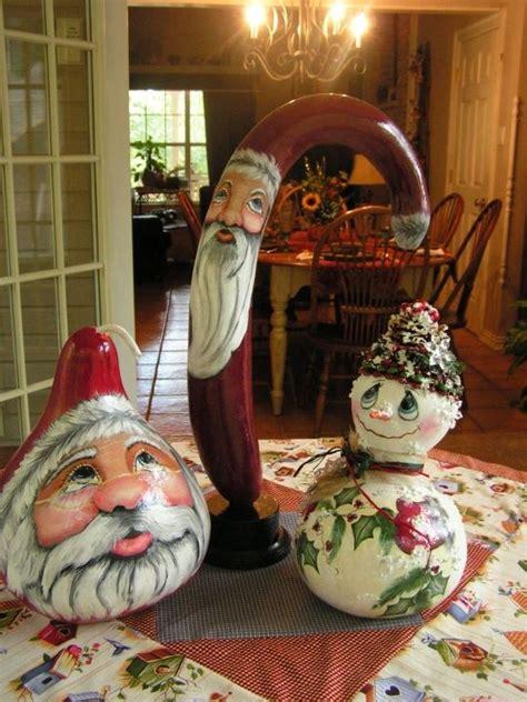 Painted Santa Gourds