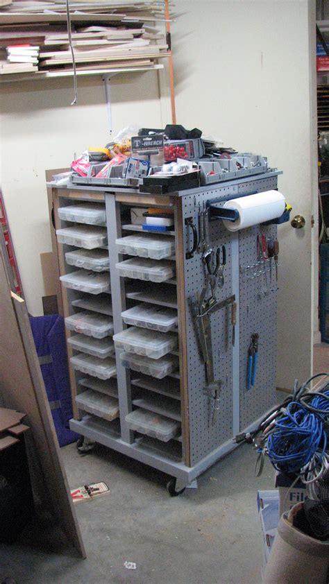 roll  cabinet holds storage bins  hardware nuts