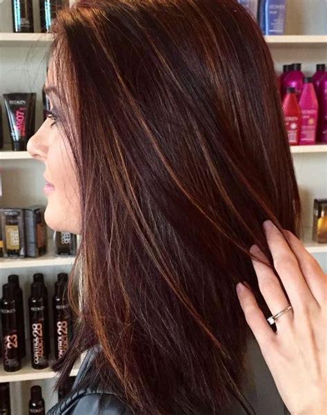 braune haare mit roten strähnen braune str 228 hnchen auf verschiedenen haarfarben