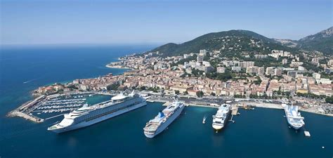 les palmiers du port the port of ajaccio from the sky