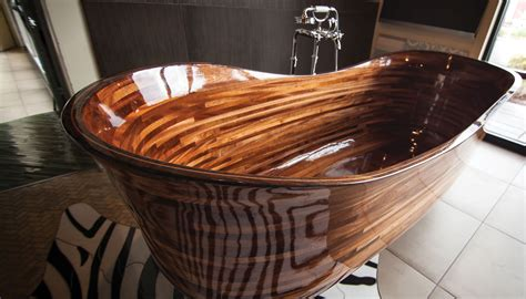 wooden soaking tubs a seattle woodworker is turning bathtubs into works of