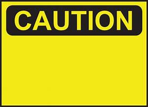 Blank Caution Sign Clip Art at Clker.com - vector clip art ...