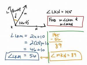Geometry 14 Applying The Angle Addition Postulate Math