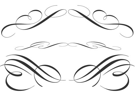 calligraphic ornament brushes  photoshop