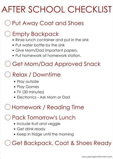 simple    school checklist  kids school