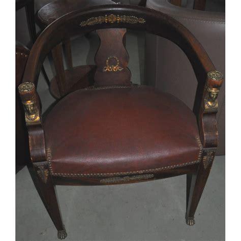 fauteuil de bureau ancien style empire retour d egypte en acajou